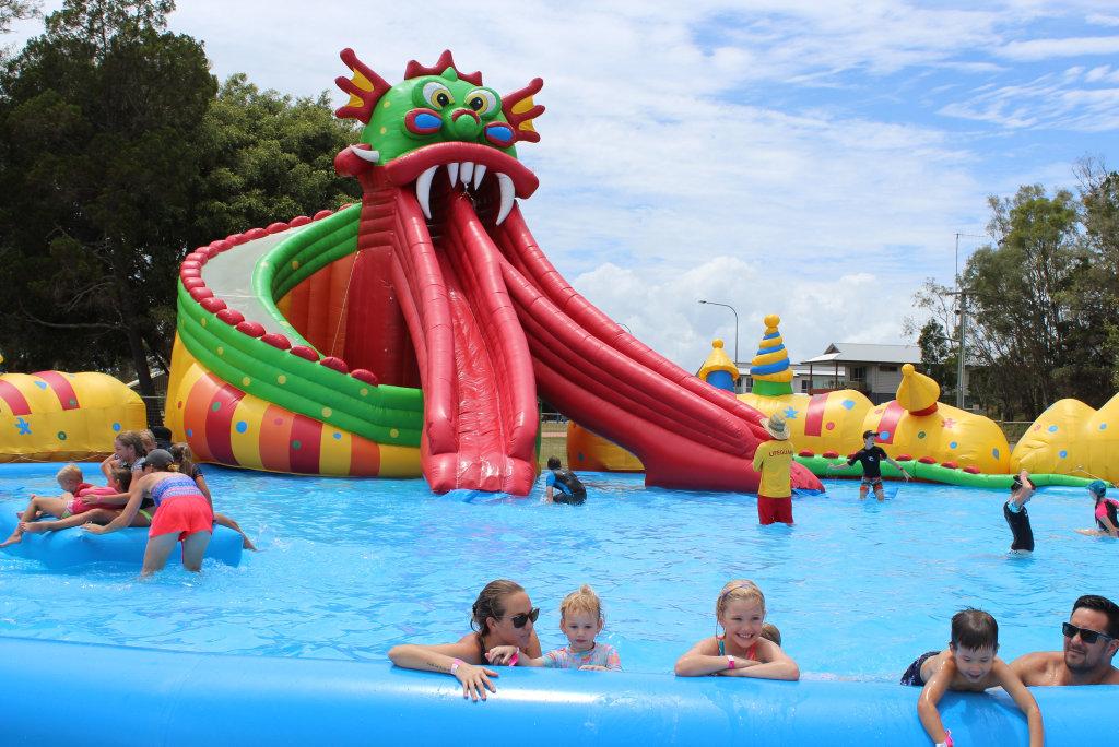 People enjoying Splash Lagoon