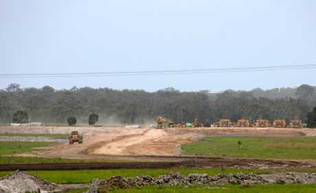 Earth works under way at Harmony, Sippy Downs.