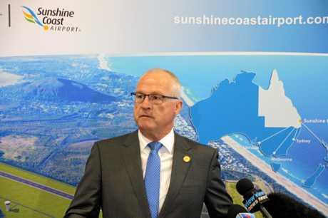 Sunshine Coast mayor Mark Jamieson announces the preferred business partner for the expansion of Sunshine Coast Airport.