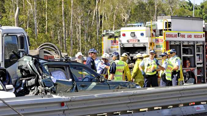 Brisbane sisters Anna, 18 and Jessica Clark, 15, died instantly when a truck crashed into the back of their car while it was stopped at road works at Pacific Paradise