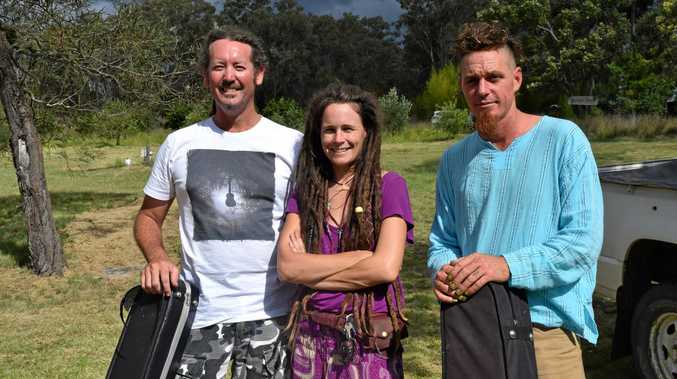 LIVE PERFORMANCE: Stanthorpe's own Tin City Music Collective, Jason Mayhew, Feraliza and Pierre Sparks at las year's expo.