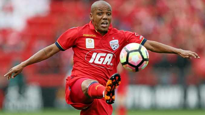 ACTION MAN: Adelaide United's Henrique is ready to unleash his skills against Melbourne Victory.