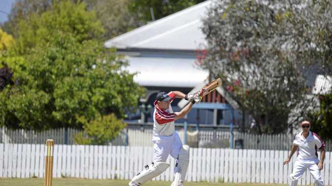 ALL STYLE: Cameron Peterson batting for Colts at Slade Park in a win against Wheatvale. The same teams will play today at Slade Park.