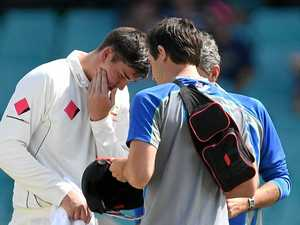 Renshaw rested for rest of Test with concussion