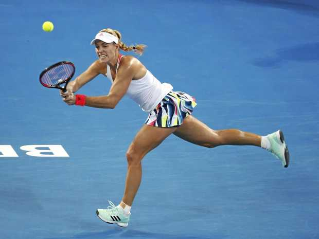 STUNNED: Angelique Kerber has been knocked out of the Brisbane International.