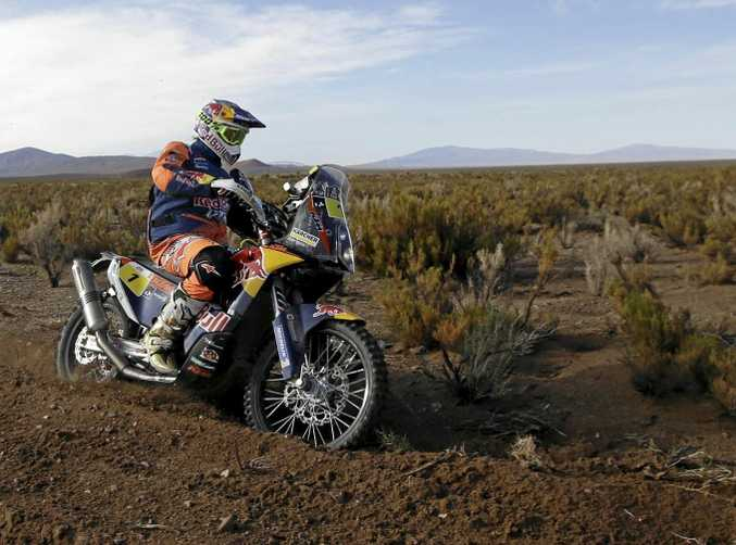 BROKEN LEG: Australia's Toby Price is out of the Dakar Rally after a crash on stage four.