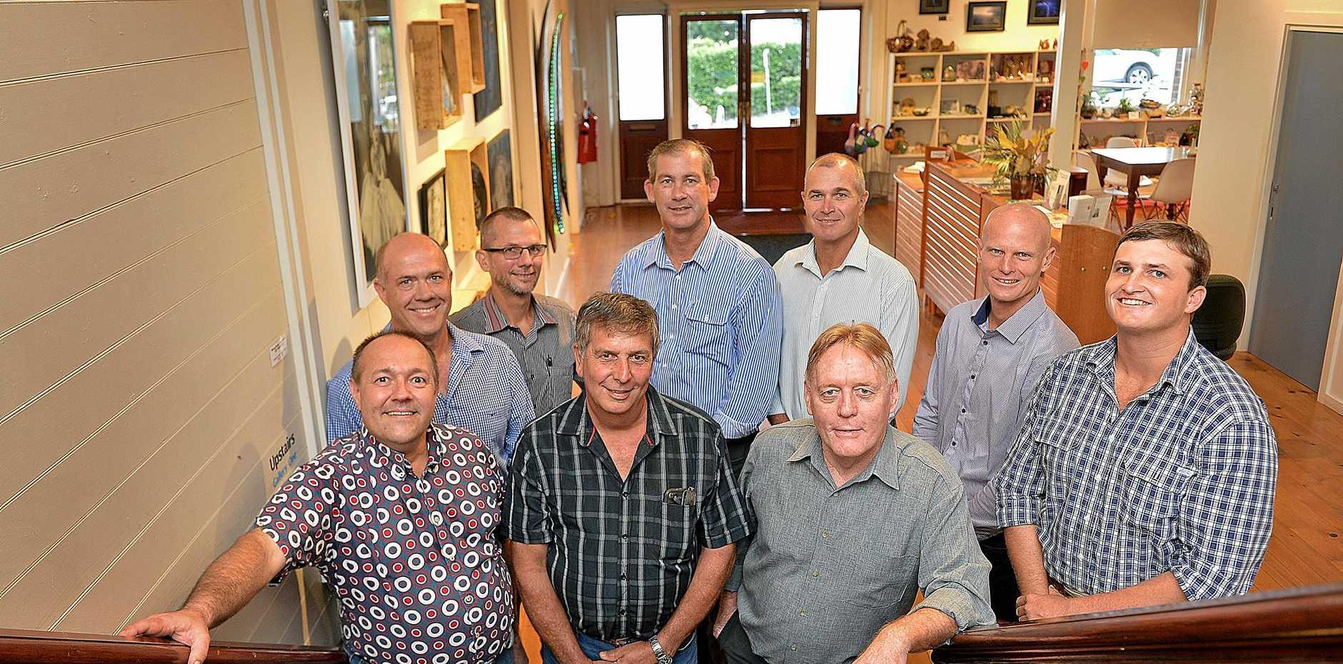 GYMPIE REGIONAL COUNCIL: Daryl Dodt, Mal Gear, Dan Stewart, Mayor Mick Curran, Bob Leitch, Glen Hartwig, James Cochrane, Mark McDonald and Hilary Smerdon.