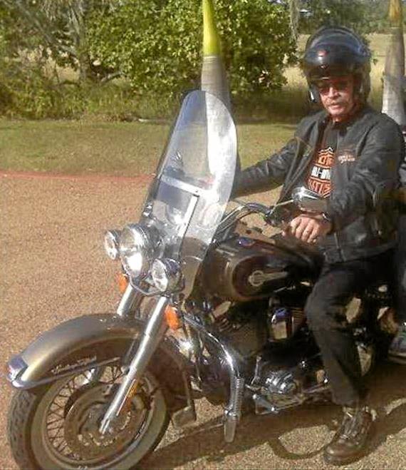BELOVED BIKE: Phil Porter on his cherished Harley Davidson.