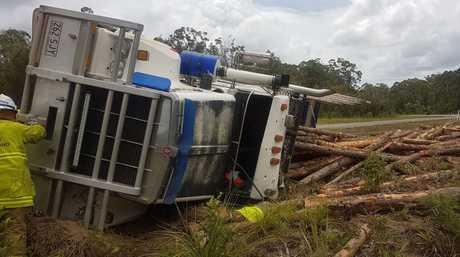 A truck crash on the Sunshine Coast today.
