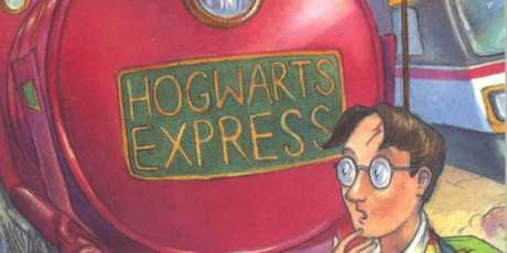 The cover of the very first Harry Potter book.