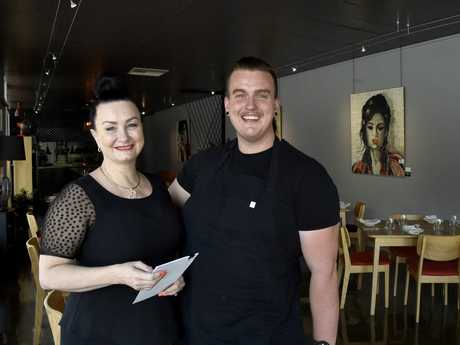 CHEF'S HAT: Zev's Bistro, chef Kyle Zevenbergen and his mother, Kym-Maree Zevenbergen celebrate being award the Good Food Guide's Chef Hat award. January 2017