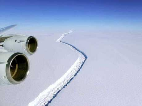According to NASA, IceBridge scientists measured the Larsen C fracture to be about 70 miles long, more than 300 feet wide and about a third of a mile deep.