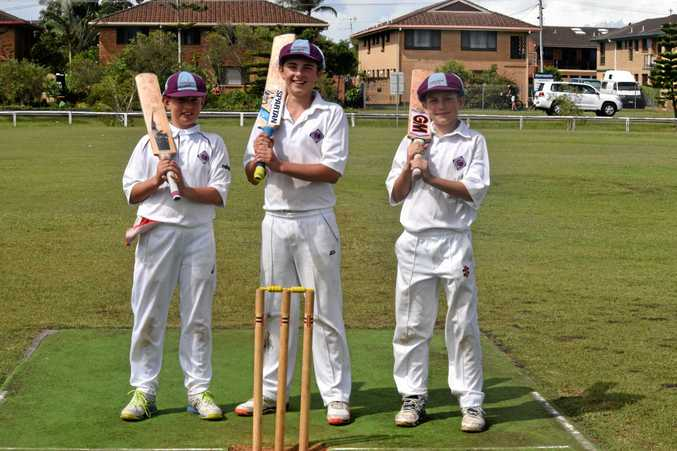 Charlie Sharp, Flynn Farquharson and Hugh Carney top scored for North Shore in the final of the LJ Hooker Under-13 carnival against Brisbane North at Kingsford Smith Park, Ballina