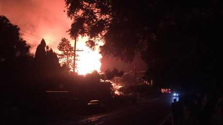 Glennon House was razed in a suspected arson overnight. Photo courtesy of Joshua Stolz.