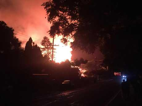 Glennon House was razed in a suspected arson overnight. Photo courtesy of Joshua Stolz.