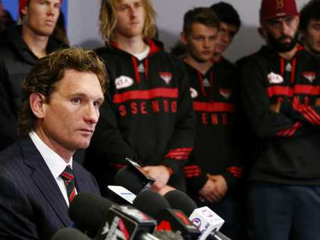 James Hird resigned as Essendon coach in 2015.
