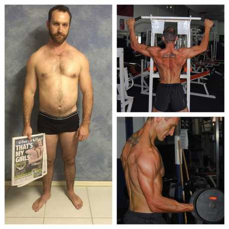 AMAZING TRANSFORMATION: Maryborough man Ryan Goodwin dropped almost 20kg in the space of 12 weeks. He was the latest Max's Challenge winner.