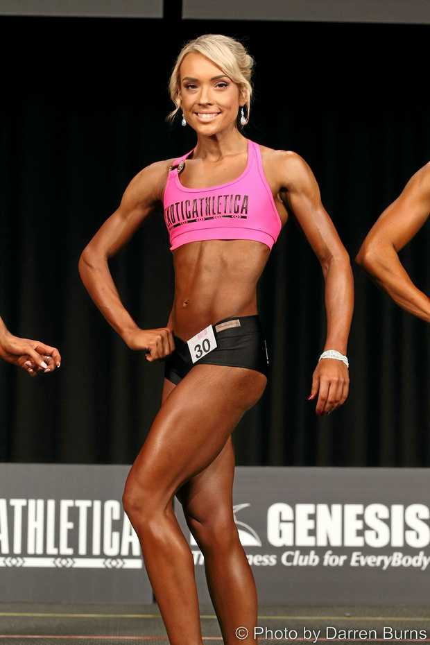 COMP TIME: Rachael Middleton competes in the INBA Brisbane Classic last year.
