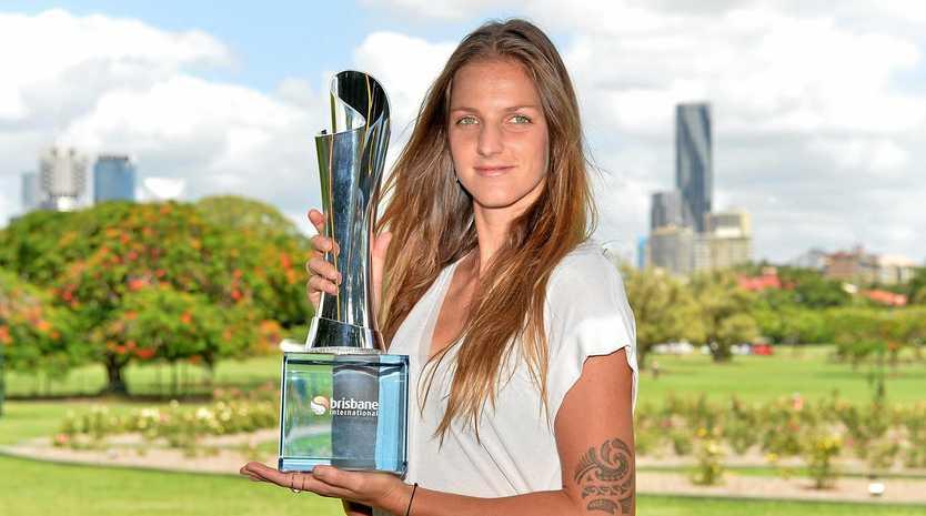 Karolina Pliskova of the Czech Republic after winning the Brisbane International.