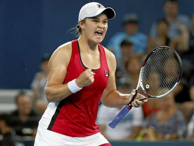 Ash Barty of Australia at the Brisbane International.