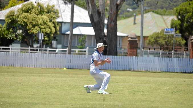 Shayne Watson takes one of his three catches for Redbacks in a win against Allora as well as two wickets.