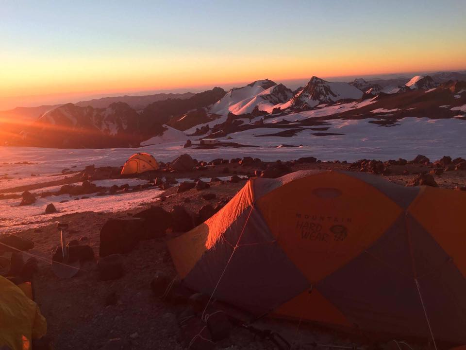 Camp Two of Mt Aconcagua in South America. Picture sent through by Alyssa Azar.