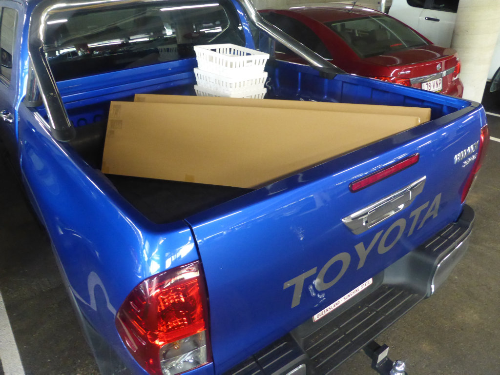 Ikea trip in long term test 2016 Toyota HiLux SR5.