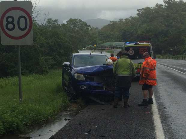 Two cars collided at The Leap on the Bruce Hwy