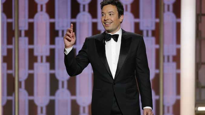 This image released by NBC shows host Jimmy Fallon at the 74th Annual Golden Globe Awards at the Beverly Hilton Hotel in Beverly Hills, Calif., on Sunday, Jan. 8, 2017.