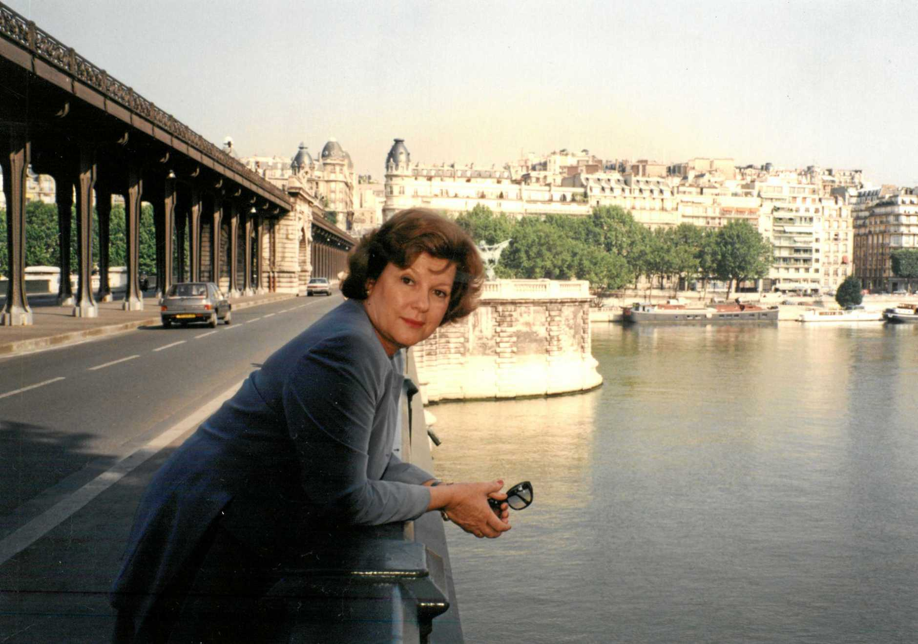 MANY ROLES: Sallyanne in Paris during her time as Senior Trade Commissioner to France.