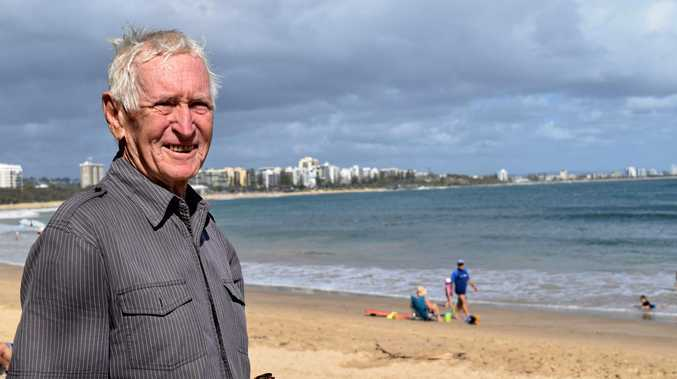 Brian Keelty at Mooloolaba beach, where he and his wife swim most mornings, on Saturday January 8, 2017.