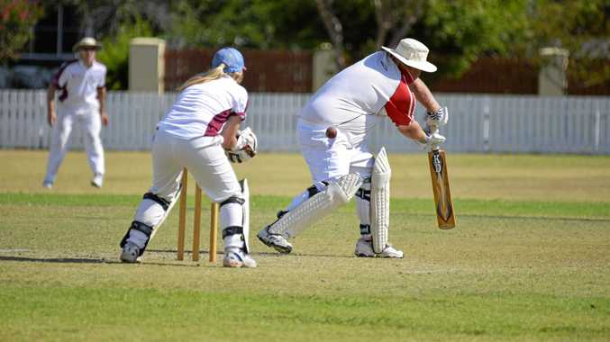 Wheatvale player Carly Cooper, pictured keeping wickets in men's cricket in Warwick, has two wickets in the Australian Women's Country Cricket Championships in Wollongong so far.