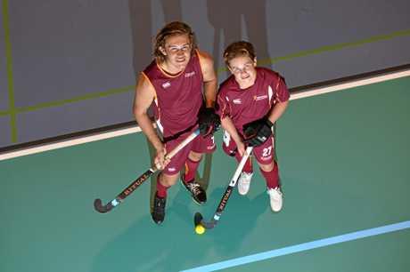 Lachlan and Angus Sinclair have bright hockey futures.  Photo: John McCutcheon / Sunshine Coast Daily