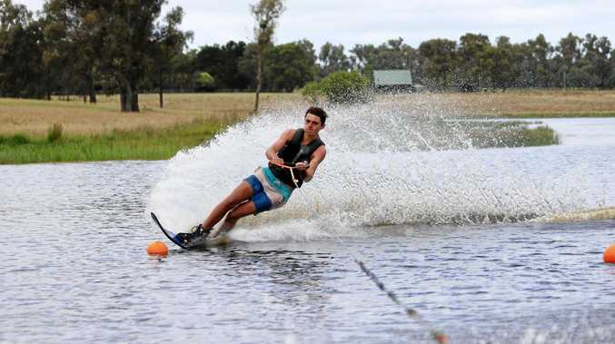 SKI STAR: Granite Belt waterskier Joshua Rogers was among the competitors on Storm King Dam at the weekend.