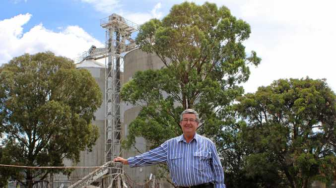 NEW CANVAS: Councillor Rod Kelly is encouraging artists, tourism operators and business operators to beautify Warwick and the Southern Downs with outdoor art projects such as at the train precinct silos.