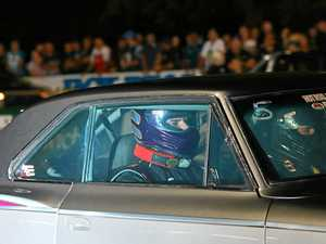Thrill seeker strapped in with drag racing legend