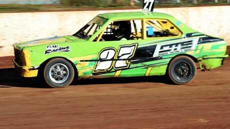 Maryborough Speedway - The Annual Kurt Murdoch Classic -  Junior Sedans - Maryborough's Bryce Lack.