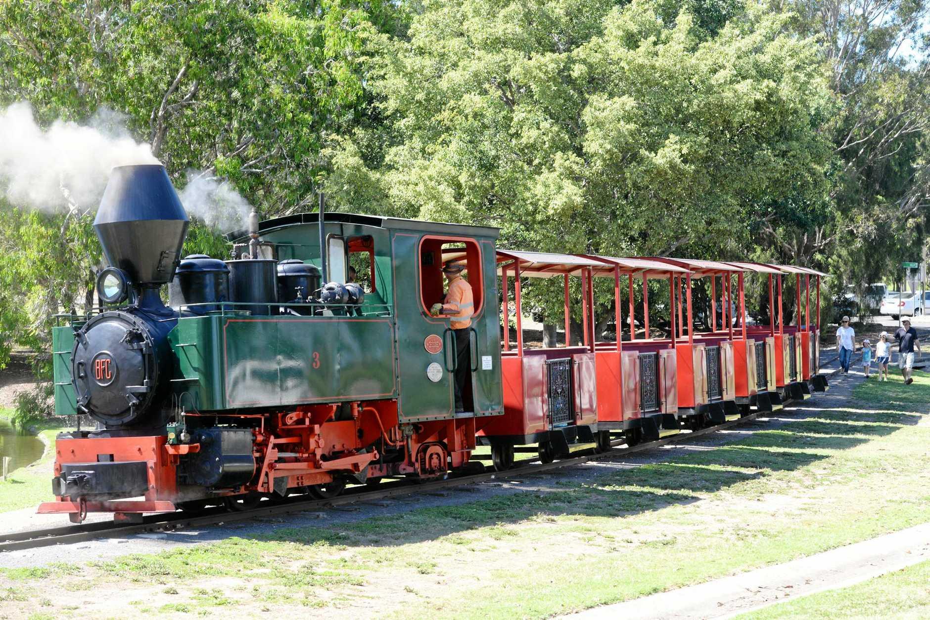 TRAIN RIDES: The Australian Sugarcane Railway is at the Bundaberg Botanic Gardens.