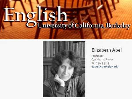 Elizabeth Abel is an English professor at the University of California-Berkeley.