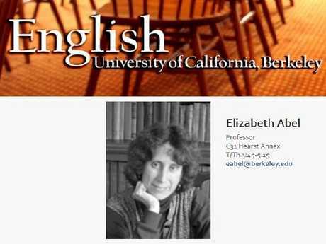 Elizabeth Abel is an English professor at the University of California-Berkeley.