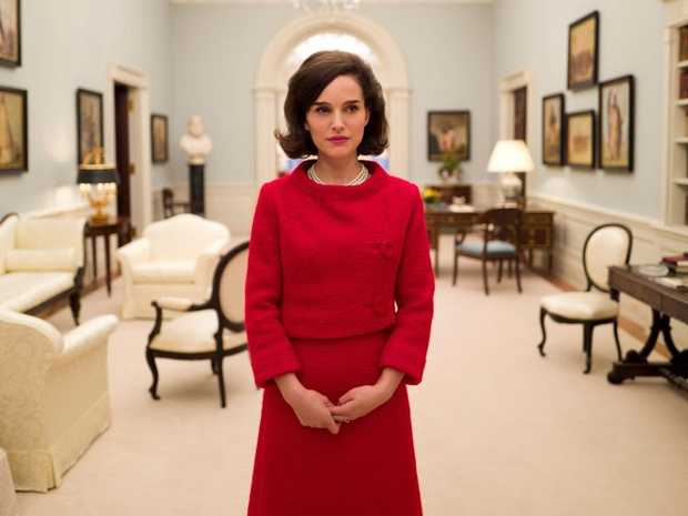 Natalie Portman in a scene from the movie Jackie.