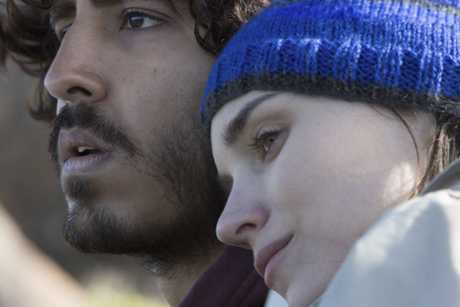 Dev Patel and Rooney Mara in a scene from the movie Lion.