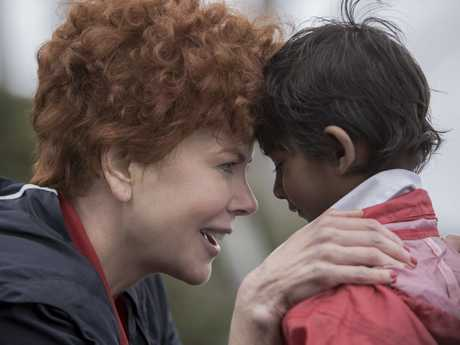 Nicole Kidman and Sunny Pawar in a scene from the movie Lion.