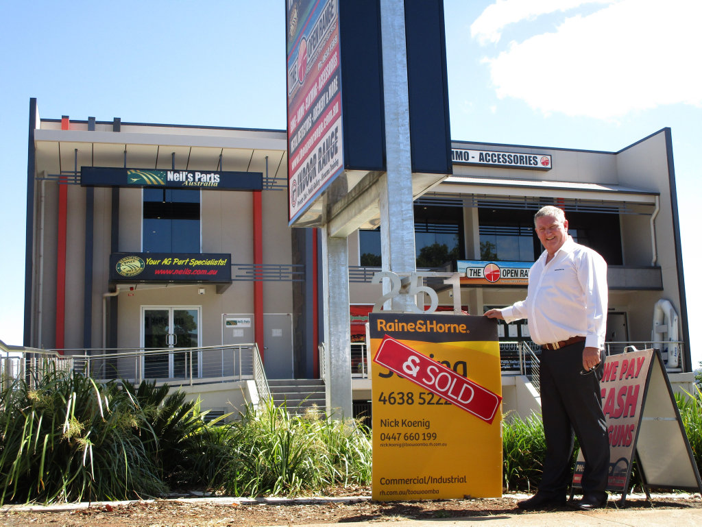 SOLD: A new commercial building, which hosts a gun range, has just sold to a Darling Downs investor for more than $3 million, much to the delight of Raine and Horne's Nick Koenig.