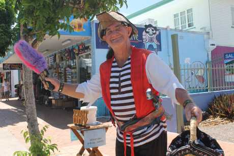 An iconic feature of the Esplande in Hervey Bay is Pirate Pete. He is portrayed by the Fraser Coast's own Character Man (Ian Dinte).