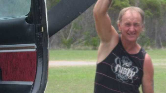 HORROR CRASH: Experienced pilot Les Woodall was seriously injured todays plane crash at Middle Island.