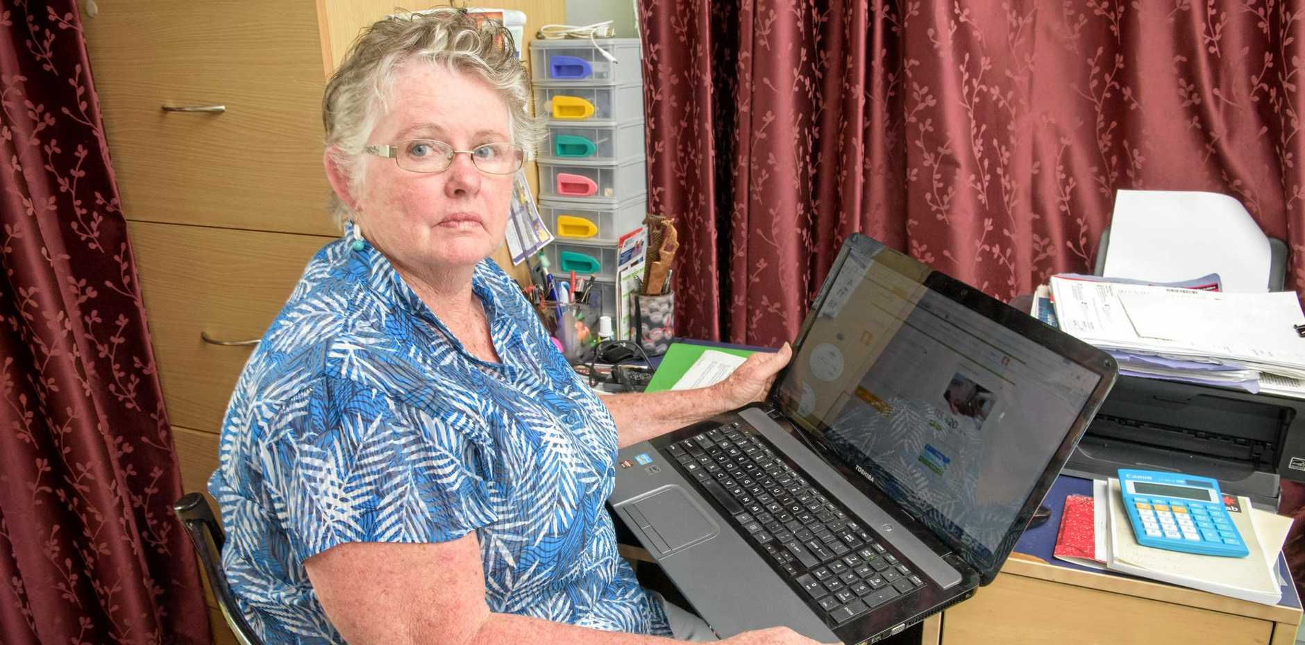 Ann Verran of Yamba shows off her GoFundMe page.
