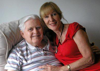 NEWSPAPER MAN: Founding general manager of the Sunshine Coast Daily, John Jones, with his former wife, Alison, in recent times.