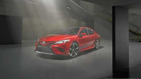 This is the 2018 model Toyota Camry which will be available in Australia late this year.