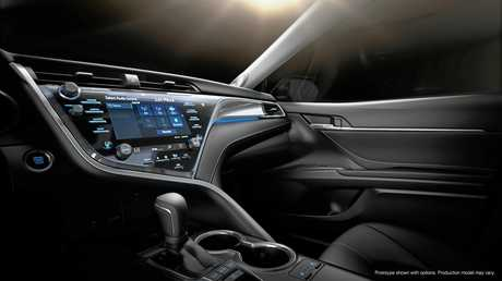 Inside the 2018 model Toyota Camry which will reach Australia later this year.